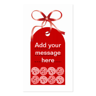 Red Flower Tag Business Cards