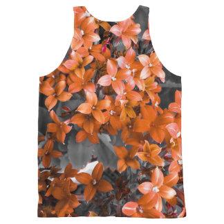 Red flower vest