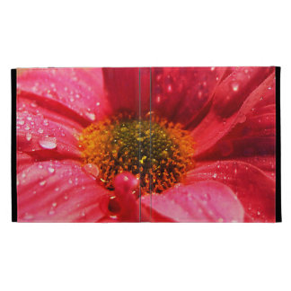Red Flower with Water Beads iPad Folio Cover