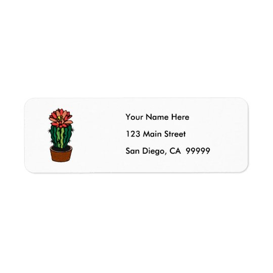 Red Flowered Coloured Ink Cactus