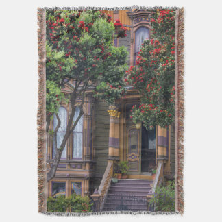 Red Flowering Gum Tree Frames Victorian Style Throw