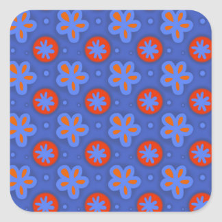 Red Flowers #2 Square Sticker