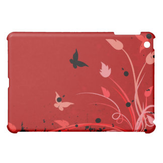 Red Flowers and Butterflies  iPad Mini Case
