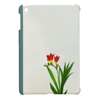 red flowers beautiful flowers iPad Mini Case