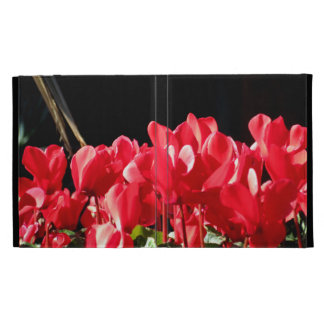 Red Flowers iPad Folio Covers
