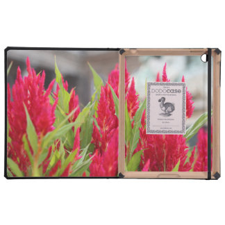 Red flowers iPad cases