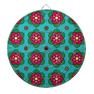 Red Flowers Dartboards