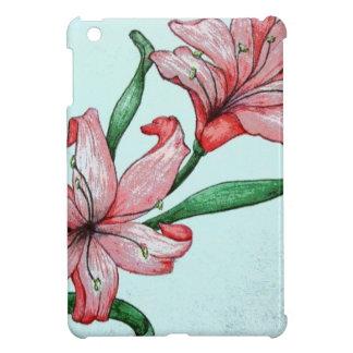 Red flowers ELD Design iPad Mini Cover