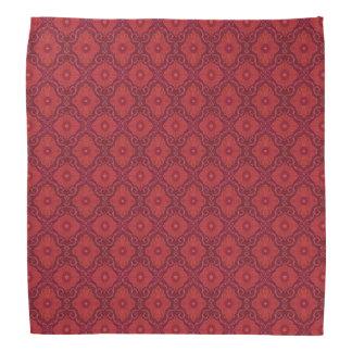 """Red Flowers"" floral motif, bohemian pattern Do-rag"