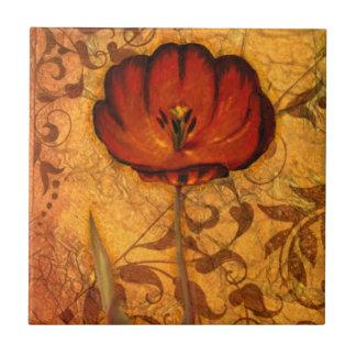 Red Flowers I Tile