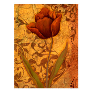 Red Flowers II Postcard