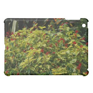 red flowers in iPad mini cover