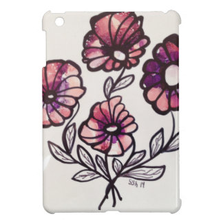 Red Flowers Case For The iPad Mini