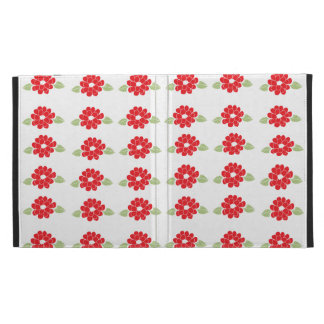 Red Flowers Pattern iPad Folio Cover
