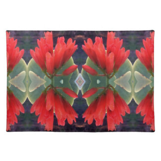Red Flowers Pattern Placemat