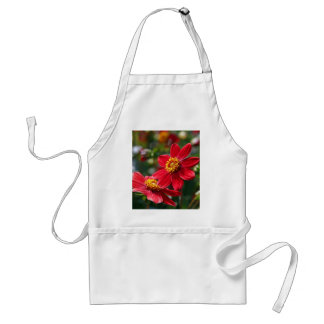 Red flowers standard apron