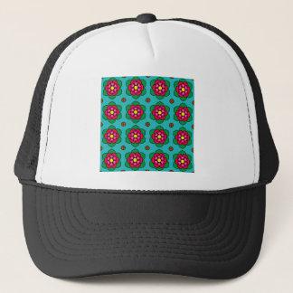 Red Flowers Trucker Hat