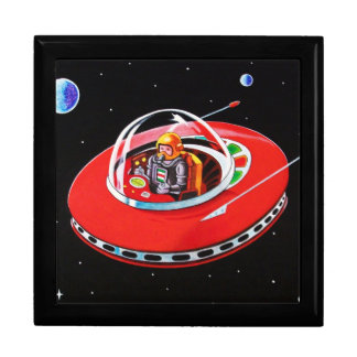 RED FLYING SAUCER GIFT BOX