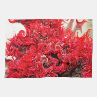 Red Foam Design Kitchen Towel