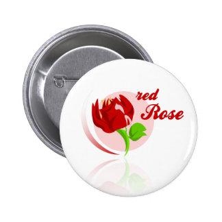 Red foes flower 2 inch round button