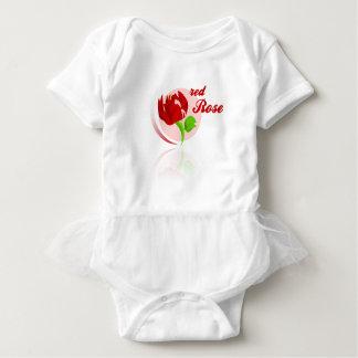 Red foes flower baby bodysuit