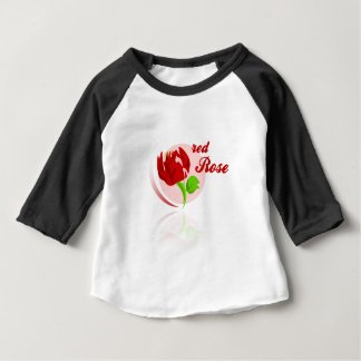 Red foes flower baby T-Shirt