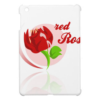 Red foes flower cover for the iPad mini