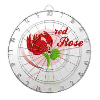 Red foes flower dart boards