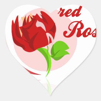 Red foes flower heart sticker