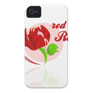 Red foes flower iPhone 4 covers