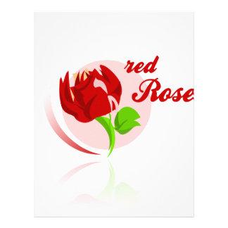 Red foes flower letterhead template