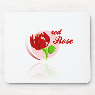 Red foes flower mouse pad