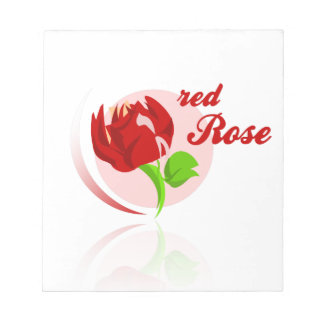 Red foes flower notepads