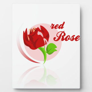 Red foes flower photo plaques