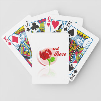 Red foes flower poker deck