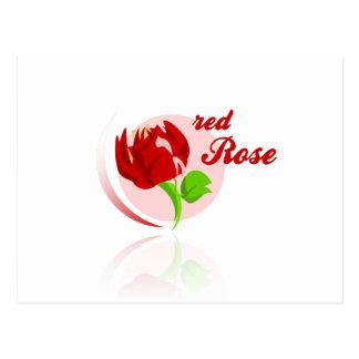Red foes flower postcard