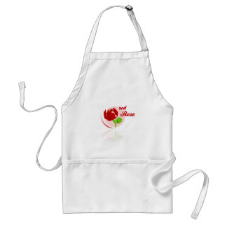 Red foes flower standard apron