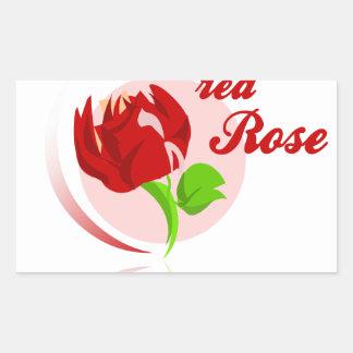 Red foes flower sticker