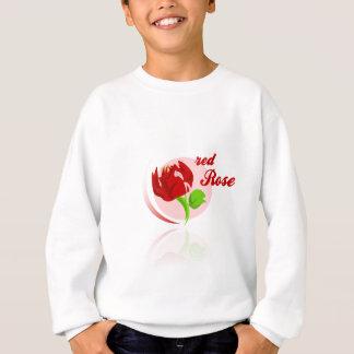 Red foes flower sweatshirt