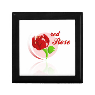Red foes flower trinket box