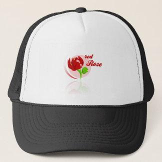 Red foes flower trucker hat