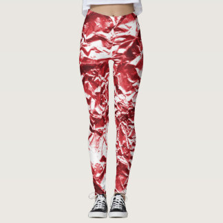 Red Foil #1 Leggings