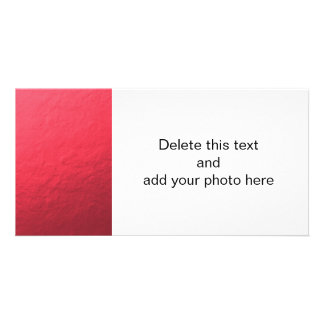 Red Foil Printed Picture Card