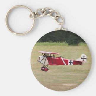 Red Fokker D.VII Keychain