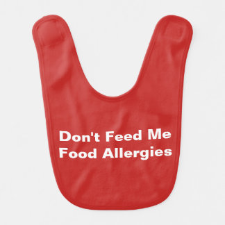 Red Food Allergy Alert Bib