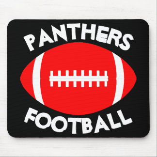 Red Football Coach Custom Team Name or Text Office Mouse Pad