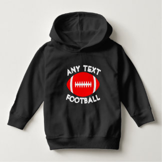 Red Football Custom Team Name/Text Gameday Toddler Hoodie