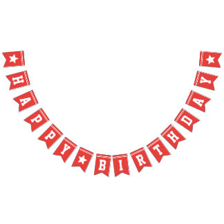 Red Football Jersey - Sports Theme Birthday Party Bunting Flags