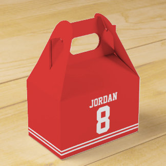Red Football Jersey - Sports Theme Birthday Party Favor Box