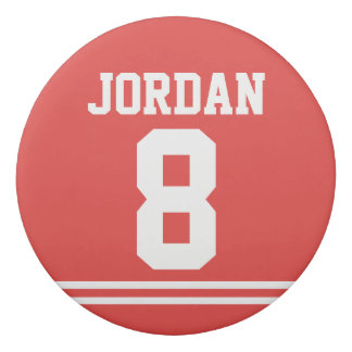 Red Football Jersey with Custom Name and Number Eraser